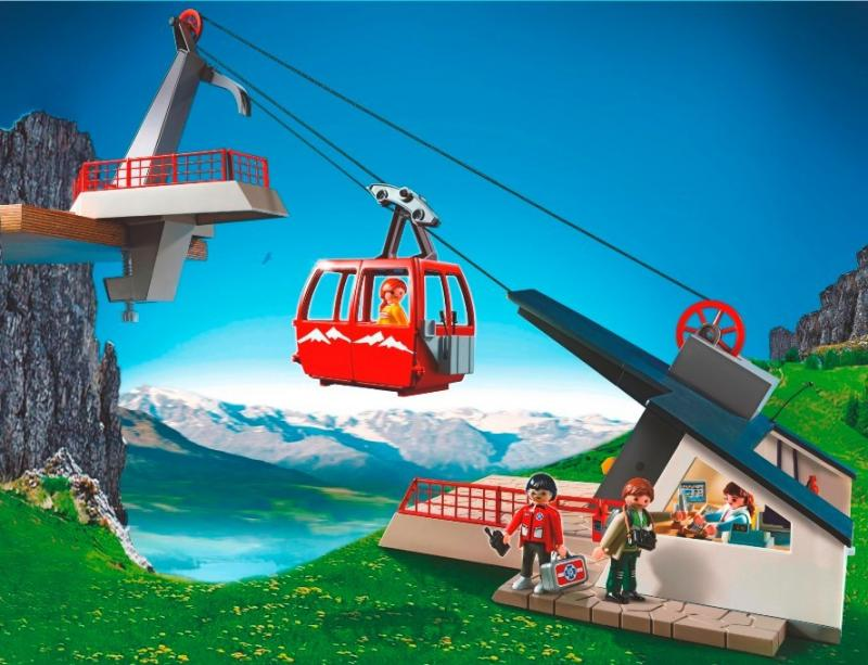 Playmobil Alpine Cable Car 5426 Table Mountain Toys