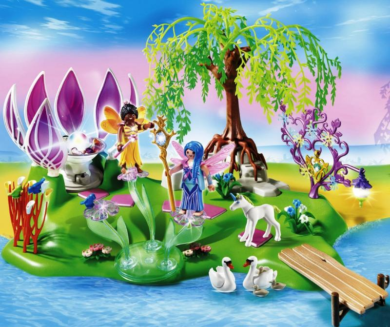 Playmobil Fairy Island With Jewel Fountain 5444 Table