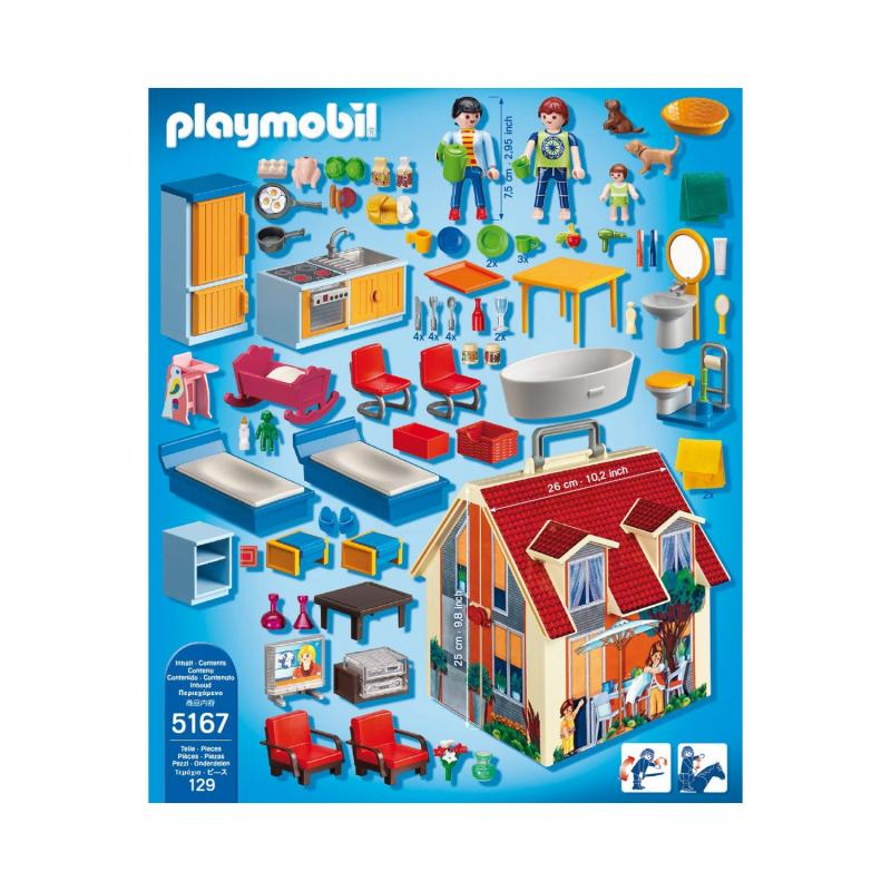 Playmobil take along modern doll house 5167 table for Transportables haus