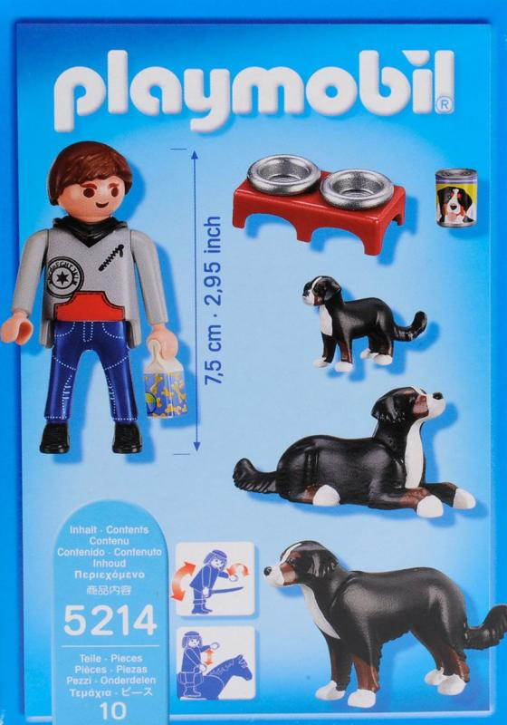 Playmobil Mountain Dogs With Puppy 5214 Table Mountain Toys