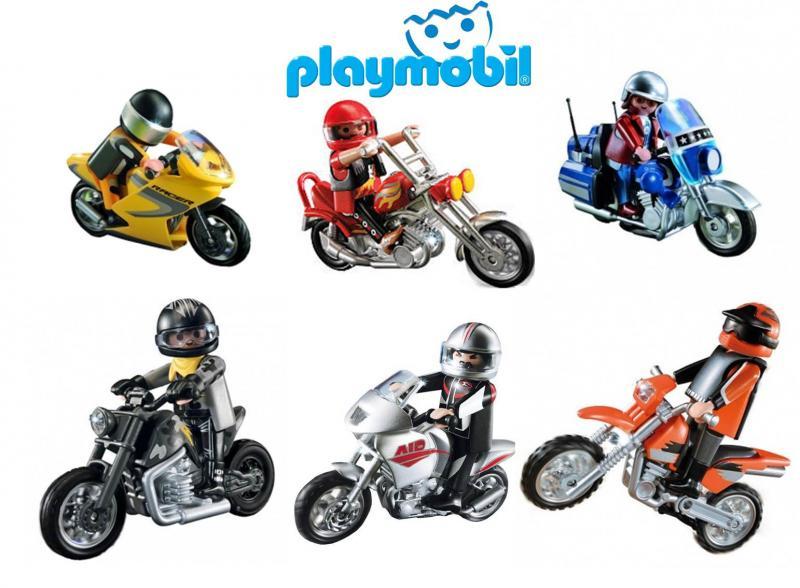 Playmobil motocross motorbike 5115 table mountain toys - Moto cross playmobil ...