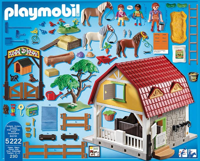 playmobil childrens pony farm 5222 table mountain toys. Black Bedroom Furniture Sets. Home Design Ideas