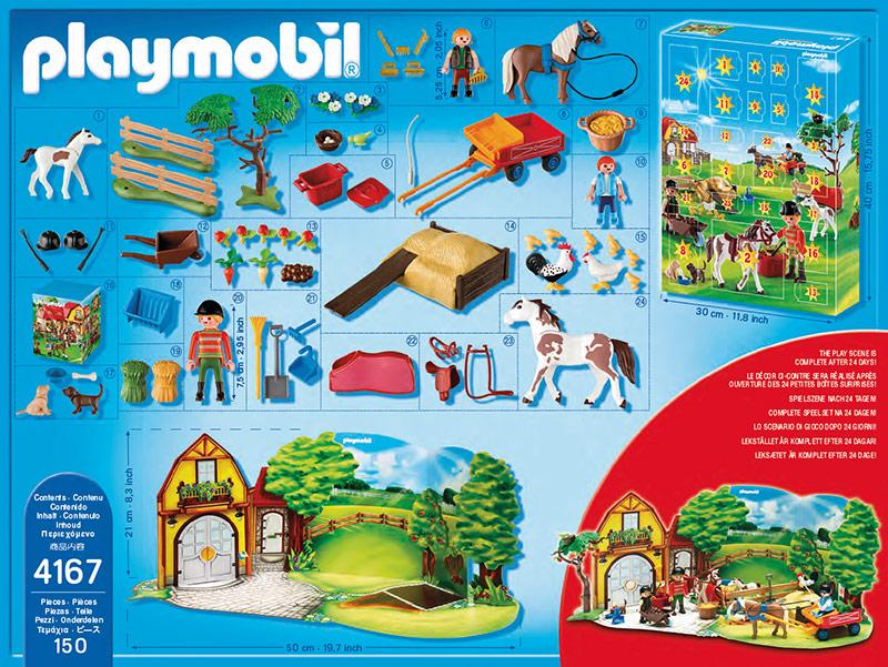 playmobil advent calendar pony farm 4167 table mountain toys. Black Bedroom Furniture Sets. Home Design Ideas