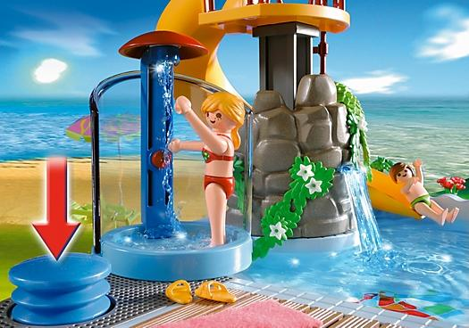 Playmobil pool with water slide 4858 table mountain toys - Playmobil swimming pool with waterslide ...