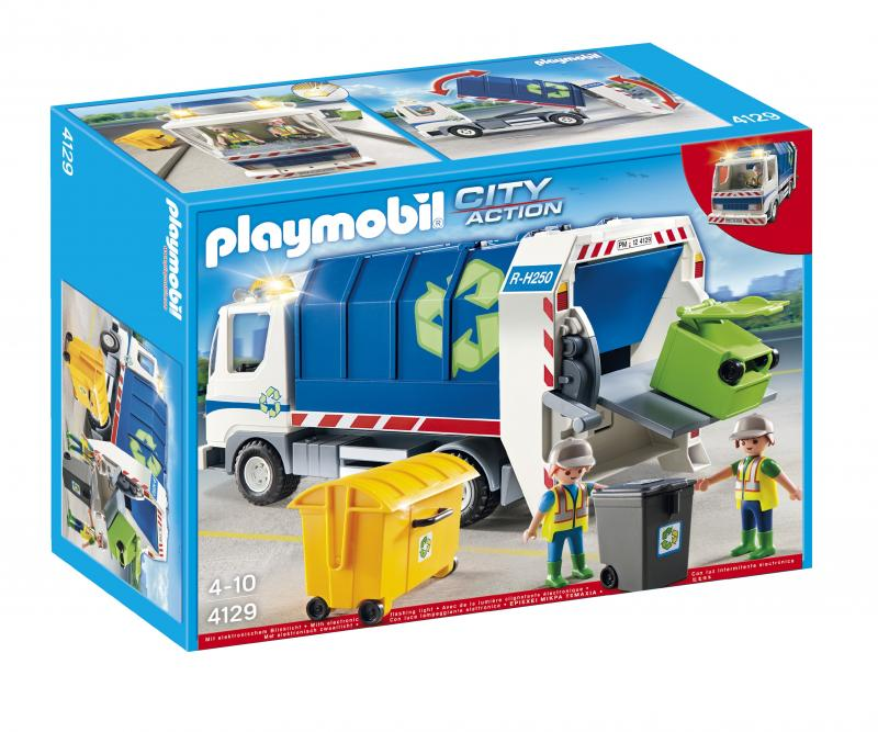 playmobil recycling truck 4129 table mountain toys. Black Bedroom Furniture Sets. Home Design Ideas