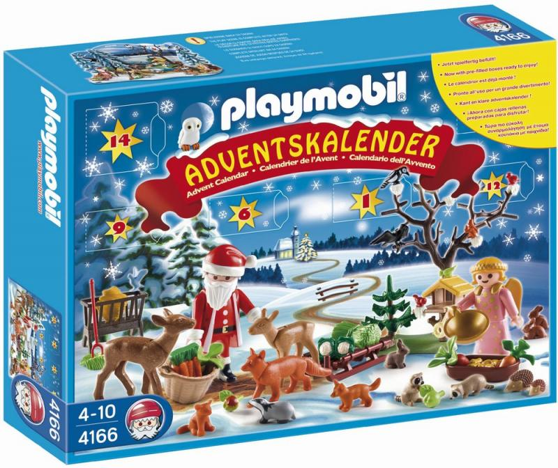 playmobil advent calender 4166 forest winter wonderland table mountain toys