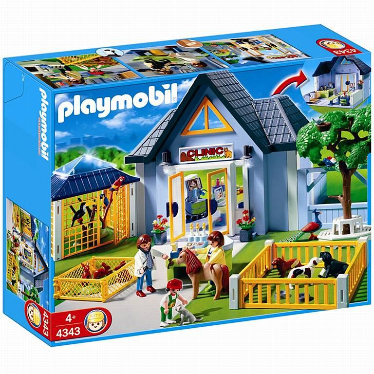 Playmobil animal clinic 4343 table mountain toys for Table playmobil