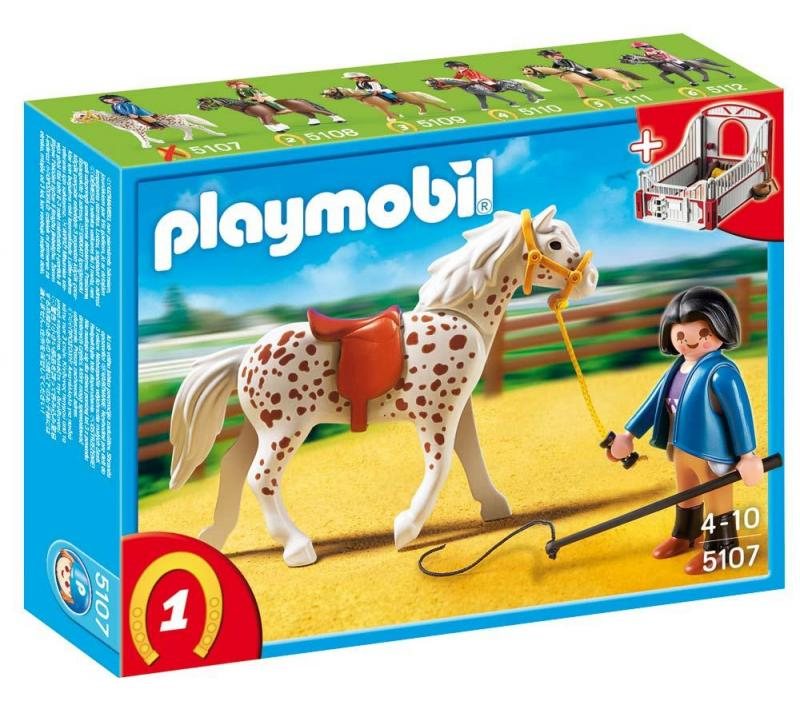 playmobil pferde set playmobil speckled horse with stall 5107 table mountain toys