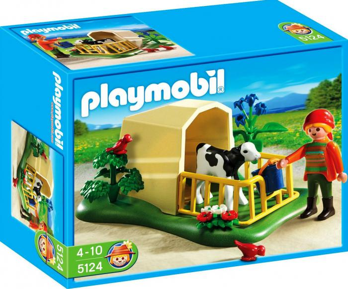 Playmobil calf feeding station 5124 table mountain toys for Table playmobil