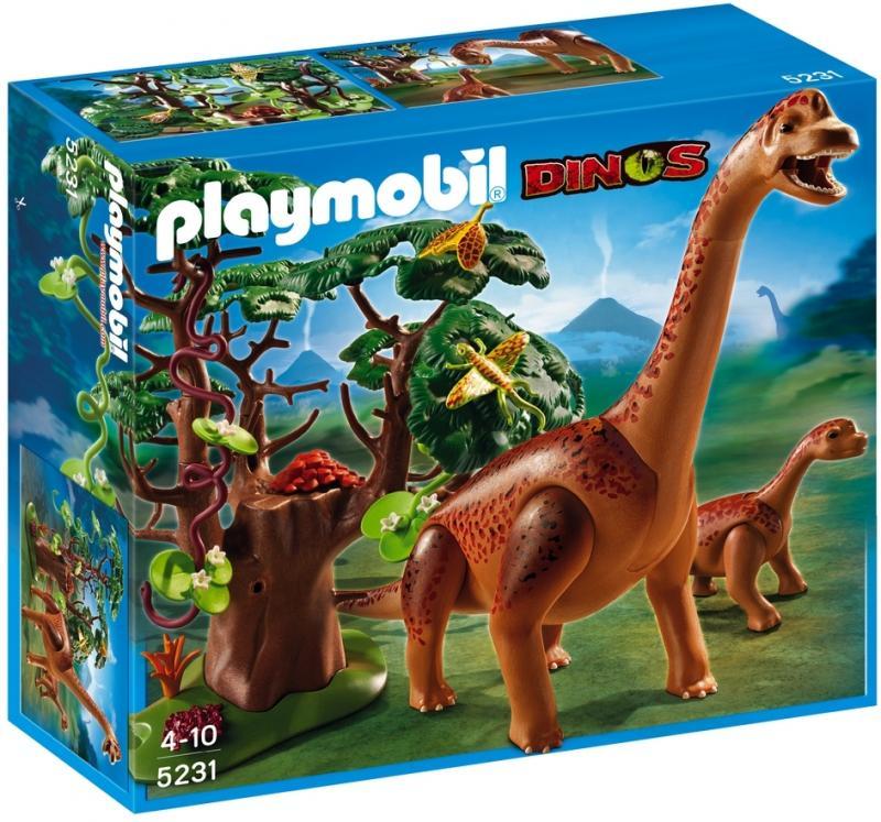 Playmobil Brachiosaurus With Baby 5231 Table Mountain Toys
