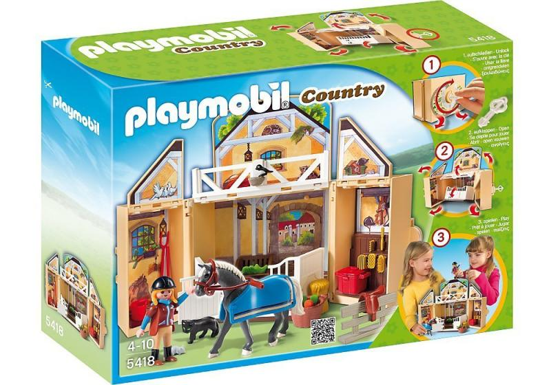 Playmobil my secret horse stable play box 5418 table for Table playmobil