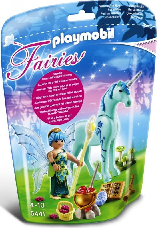 Playmobil Healer Fairy With Unicorn Sapphire Night 5441 Table