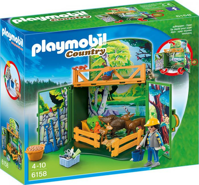 Playmobil forest animals play box 6158 table mountain toys Table playmobil