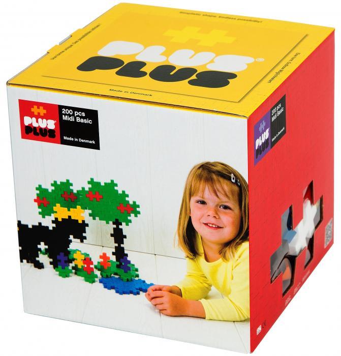 Plus Plus Midi Basic 200 Pcs Table Mountain Toys